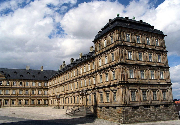 Neue Residenz (New Residence) - served as the residence of the bishops after the 17th century, located adjacent to the Imperial Cathedral - Bamberg