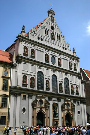 Facade of the St. Michael's Church - Munich
