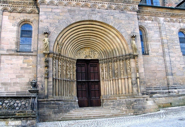 Fürstenportal  (Princes door) - along the north side of the Imperial Cathedral of St. Peter and St. George - Bamberg