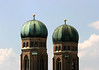 Romanesque brick towers and Renaissance copper domes (octagonal shaped) - Frauenkirche (Church of Our Lady) - Munich