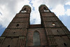 Gothic architecture of the twin towers of the Frauenkirche (Church of Our Lady) - Munich