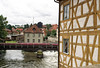 Up the Regnitz River - from the half-timbered framework construction of the Rottmeister (Corporal's) House - Bamberg