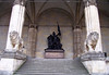 Army Monument - erected in 1892 at the Feldherrnhalle (Field Marshals Hall) - to honor the fallen soldiers of the Franco-Prussian War or Franco-German War (1870 – 1871) - which was a conflict between the Second French Empire and the Kingdom of Prussia <br /> <br /> at the Feldherrnhalle (Field Marshals Hall), constructed from 1841-1844 - Munich