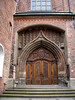 Fruenkirche (Church of Our Lady) - an arch vault above a side portal of the Frauenkirche (Church of Our Lady) - Munich