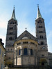 Aspe and towers (rising to 266 ft. - 81 m) of the Imperial Cathedral of St. Peter and St. George - Bamberg