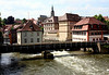 Up the Regnitz  River and across the Untere Muhlbrucke (Upper Muhl Bridge) - to the Church of St. Stephan - Bamberg