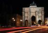 Time lapse illumination below the Sigestor (Victory Gate) - Munich