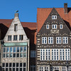 Old houses at the Market Place in Bremen