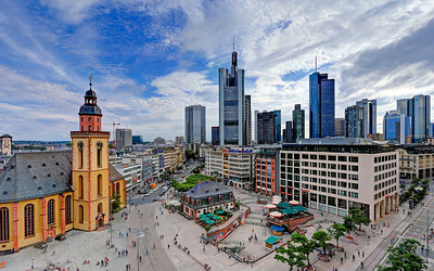 Hauptwache, Frankfurt am Main Skyline - Past & Present