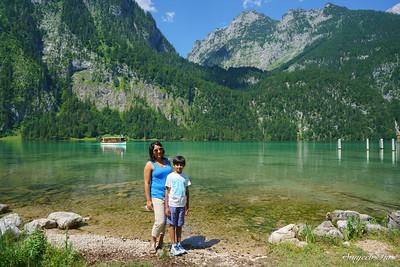Lake Königssee,  Berchtesgaden, Eastern Bavaria, Germany