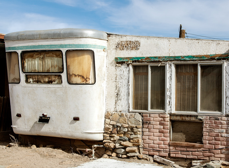 Abandoned mobile home in Bombay Beach, Imperial Valley, California