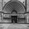 Girona Cathedral - monochrome.