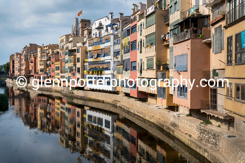 Reflections in River Onyar, Girona.