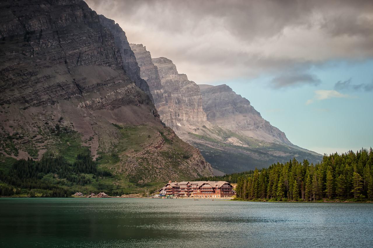 Swiftcurrent Lodge Backdrop
