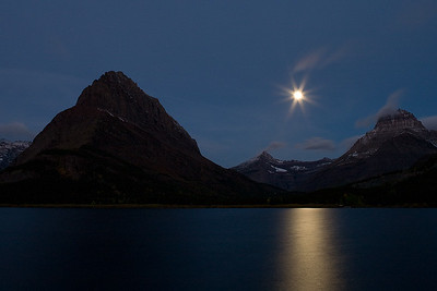 Moonrise, Many Glacier Lake