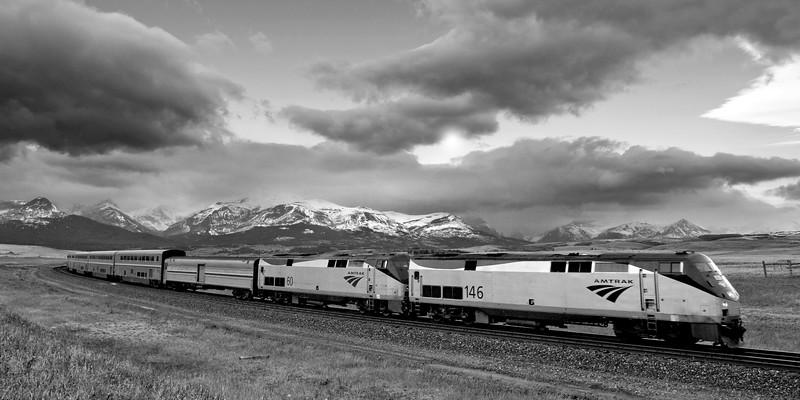 Eastbound Amtrak, East Glacier