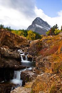 Waterfalls, Many Glacier, Glacier National Park