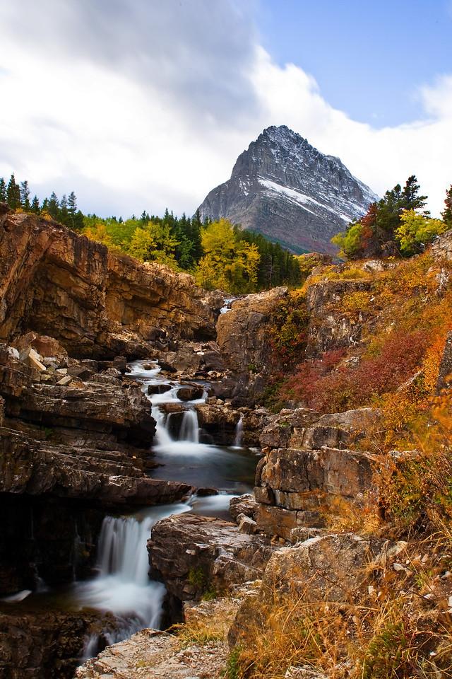 Waterfalls, Many Glacier