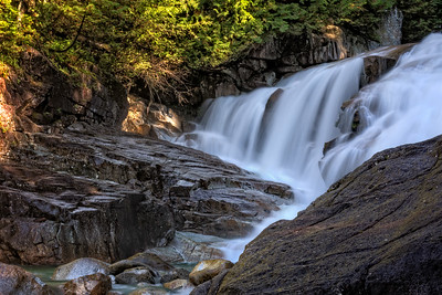 Lower Falls in Gold Creek in Golden Ears Park, BC.