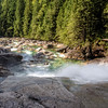 Standing at the Top of the Lower Falls in Gold Creek in Golden Ears Park, BC.