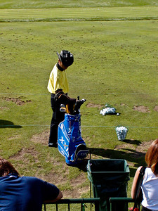 Shingo Katayama at the driving range