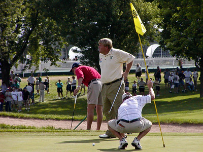 John Daly on hole 9 green