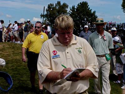 John Daly signing autographs