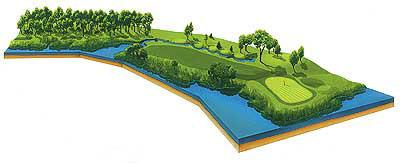 Hole 16 layout (Copyright PGA of America)