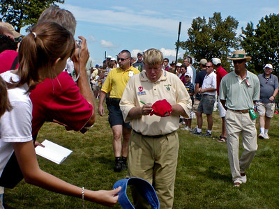 John Daly signing autographs