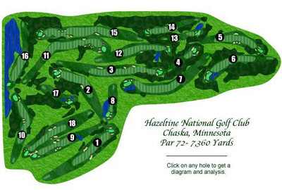 Course layout (Copyright PGA of America)