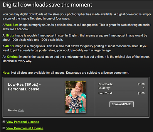 "DIGITAL DOWNLOADS  <a href=""http://www.smugmug.com/prints/digital-downloads"">Click here to read about our DIGITAL DOWNLOAD policy.</a>  Most of my photos are available for purchase for immediate digital download. If you are interested in a photo that is not currently for sale, please contact me."