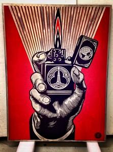 Gowanus Art Project - Shepherd Fairey original metal plate