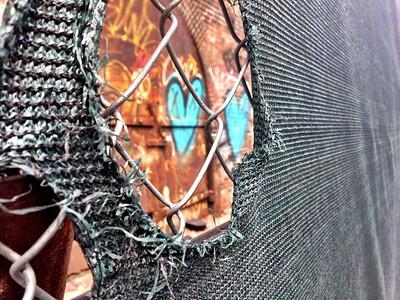 Fleeting graffiti from Dumbo's Art Bridge
