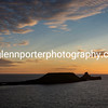 Sunset at Worms Head, Gower, Rhossili, South Wales