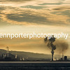 Sunrise over the industrial area of Port Talbot, South Wales.