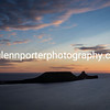 Sunset at Worms Head, Gower, Rhossili, South Wales.