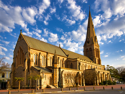 Cathedral of St Michael and St George in Winter Light, Grahamstown Makhanda