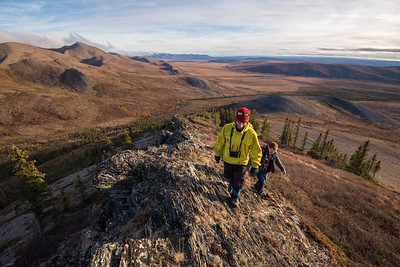 Hiking the Richardson Mountains above the Arctic Circle