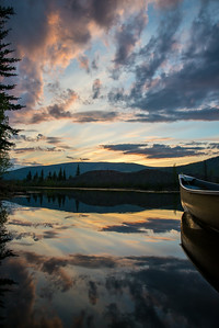 Yukon midnight reflections