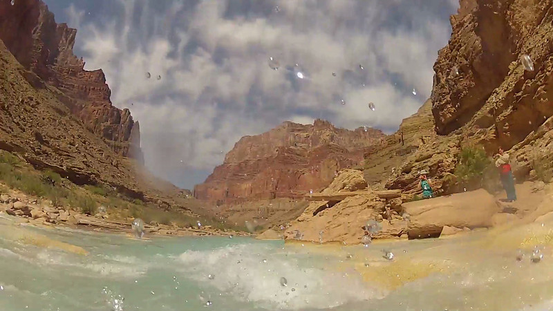 Swimming the Little Colorado River in the Grand Canyon 2