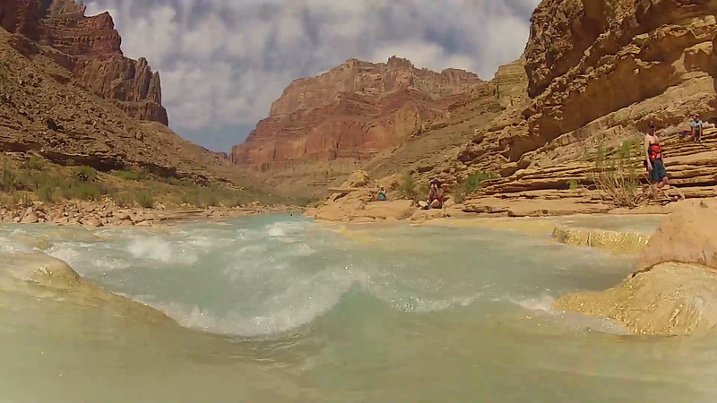 Swimming the Little Colorado River in the Grand Canyon 1
