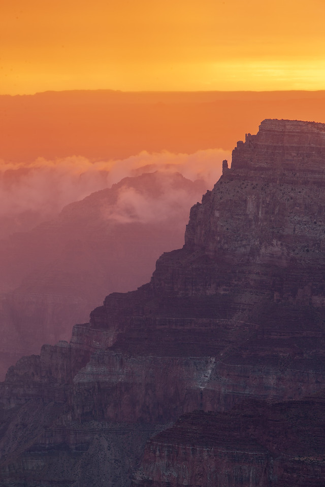 Summer sunrise from Navajo Point after predawn rainstorm