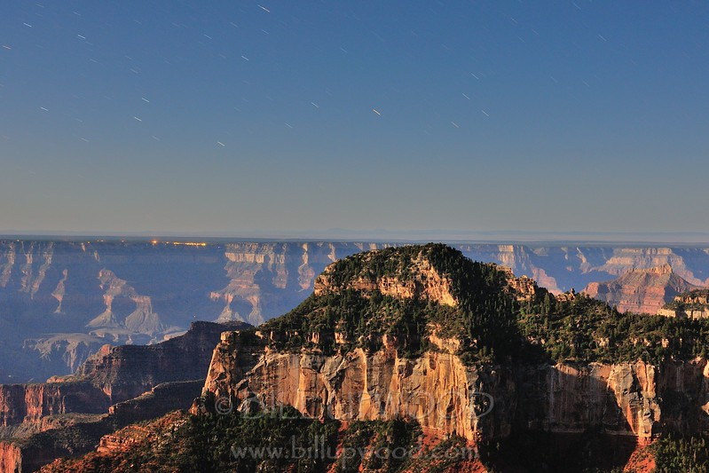 The Grand Canyon By Moonlight