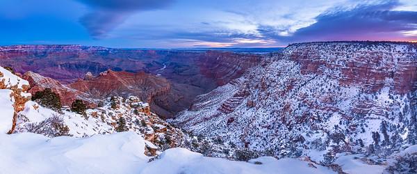 Grand canyon South Rim, more snow