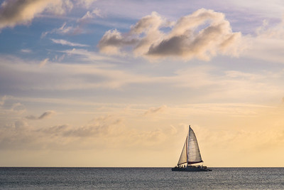 Solitary Sailboat