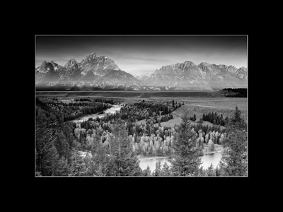 Homage to Ansel Adams, Snake River Overlook, Grand Teton National Park