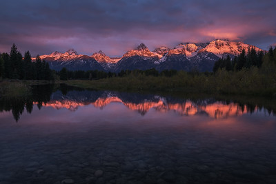 First Light Across The Teton Range