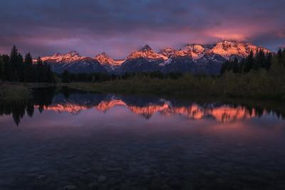 First Light Across The Teton Range