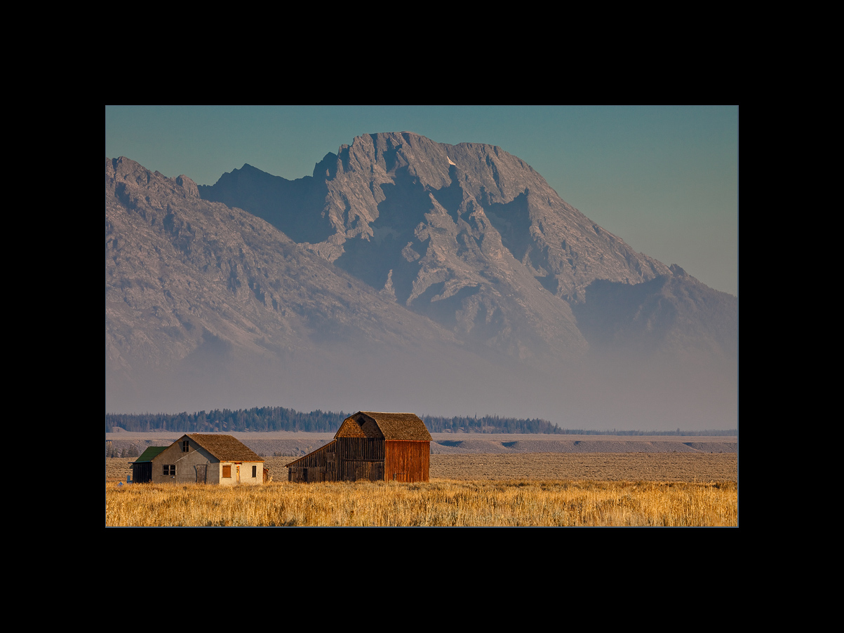 Mormon Barns with Mount Moran in the distance, Grand Teton National Park