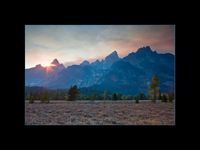 Sunset over the Tetons, Wyoming